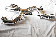 Toyota Supra 2JZ-GTE Turbo Aluminum Intercooler Piping AFTER Chrome-Like Metal Polishing and Buffing Services