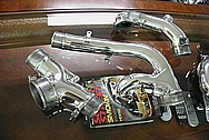 Toyota Supra 2JZ-GTE 3.0L Aluminum Polished Stock Twin Turbo Piping
