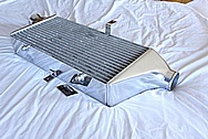 Aluminum Greddy 3-Row Intercooler AFTER Chrome-Like Metal Polishing and Buffing Services / Restoration Services
