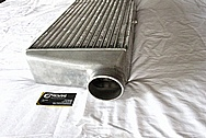 Toyota Supra 2JZGTE Blitz Aluminum Intercooler BEFORE Chrome-Like Metal Polishing and Buffing Services
