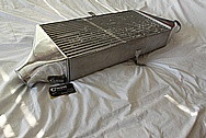 Aluminum Greddy 3-Row Intercooler BEFORE Chrome-Like Metal Polishing and Buffing Services / Restoration Services