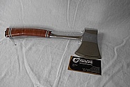 Stainless Steel hatchet Blade and Handle AFTER Chrome-Like Metal Polishing and Buffing Services / Restoration Services