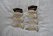 Steel Knife Blades AFTER Chrome-Like Metal Polishing and Buffing Services / Restoration Services