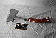 Stainless Steel hatchet Blade and Handle BEFORE Chrome-Like Metal Polishing and Buffing Services / Restoration Services
