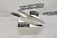 Stainless Steel Knife Blade BEFORE Chrome-Like Polishing and Buffing - Stainless Steel Polishing - Knife Blade Polishing