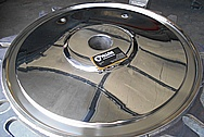 Stainless Steel Covers AFTER Chrome-Like Metal Polishing - Steel Polishing Services - Manufacturer Polishing Services