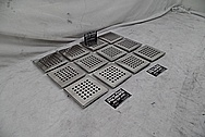 Stainless Steel Drain Pieces AFTER Chrome-Like Metal Polishing - Steel Polishing Services - Manufacturer Polishing Services