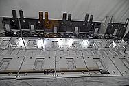 Wilson Audio High Profile Audio Speaker System Pieces AFTER Chrome-Like Metal Polishing - Aluminum Polishing - Manufacturer Polishing Service