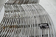 Stainless Steel Harley Davidson Production Windshield Trim Custom Brackets AFTER Chrome-Like Metal Polishing - Stainless Steel Manufacturing Polishing / Production Polishing
