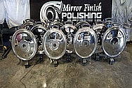 Stainless Steel Tank Car Lids AFTER Chrome-Like Metal Polishing - Stainless Steel Polishing