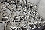 Stainless Steel Manufacturer Breather Lids AFTER Chrome-Like Metal Polishing and Buffing Services - Stainless Steel Polishing Services - Manufacturer Polishing