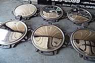 Stainless Steel Railroad Tank Car Lids - Tops AFTER Chrome-Like Metal Polishing - Stainless Steel Manufacturing Polishing / Production Polishing