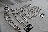 Vance & Hines Aluminum Motorcycle Parts AFTER Chrome-Like Metal Polishing - Stainless Steel Manufacturing Polishing / Production Polishing