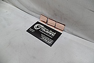 Copper Coupon Pieces AFTER Chrome-Like Metal Polishing - Copper Polishing - Manufacture Polishing