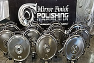 Stainless Steel Tank Car Lids BEFORE Chrome-Like Metal Polishing - Stainless Steel Polishing