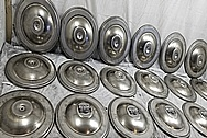 Stainless Steel Manufacturer Breather Lids BEFORE Chrome-Like Metal Polishing and Buffing Services - Stainless Steel Polishing Services - Manufacturer Polishing