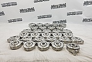Aluminum Machined Alternator Cases BEFORE Chrome-Like Metal Polishing and Buffing Services - Aluminum Polishing Services - Manufacturer Polishing