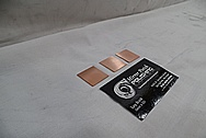 Copper Coupon Pieces BEFORE Chrome-Like Metal Polishing - Copper Polishing