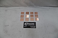 Copper Coupon Pieces BEFORE Chrome-Like Metal Polishing - Copper Polishing - Manufacture Polishing