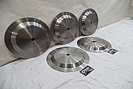 Titanium Electrodes BEFORE Chrome-Like Metal Polishing - Titanium Polishing Services - Manufacturer Polishing Services