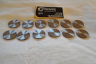 Titanium Discs / Coupons BEFORE Chrome-Like Metal Polishing - Titanium Polishing Services - Manufacturer Polishing Services