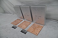 Aluminum and Copper Heat Sinks BEFORE Chrome-Like Metal Polishing and Buffing Services / Restoration Services - Aluminum Polishing & Copper Polishing
