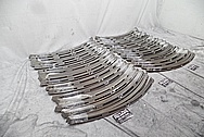 Harley Davidson Motorcycle Stainless Steel Windshield Trim Pieces BEFORE Chrome-Like Metal Polishing and Buffing Services - Stainless Steel Polishing - Manufacturer Polishing Services