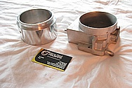 1997 - 2004 Chevrolet C5 Corvette LS1 Aluminum Mass Air Meter BEFORE Chrome-Like Metal Polishing and Buffing Services