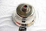 Bronze Old Train Bell AFTER Chrome-Like Metal Polishing and Buffing Services
