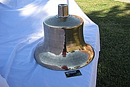 Bronze Train Bell AFTER Chrome-Like Metal Polishing and Buffing Services