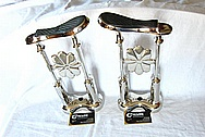 Brass Shoe Stantions AFTER Chrome-Like Metal Polishing and Buffing Services / Restoration Services