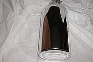 Steel Nitrous Bottle AFTER Chrome-Like Metal Polishing and Buffing Services