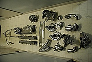Toyota Supra 2JZGTE TRD Aluminum and Steel Parts AFTER Chrome-Like Metal Polishing and Buffing Services