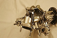 Mitsubishi 3000GT Aluminum Water Pump AFTER Chrome-Like Metal Polishing and Buffing Services