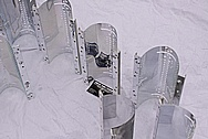 Corning Glass and Ceramics Company Aluminum Metal Reflectors AFTER Chrome-Like Metal Polishing and Buffing Services