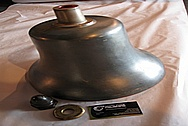 Bronze Old Train Bell BEFORE Chrome-Like Metal Polishing and Buffing Services