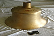 Bronze Train Bell BEFORE Chrome-Like Metal Polishing and Buffing Services