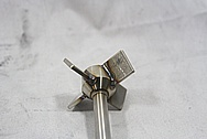 Stainless Steel Manufactured Piece BEFORE Chrome-Like Metal Polishing and Buffing Services / Restoration Services
