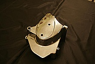 Kawasaki Motorcycle Aluminum Cover Piece AFTER Chrome-Like Metal Polishing and Buffing Services