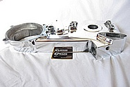 1980 FLH Shovelhead 1340 cc Harley Davidson Motorcycle Aluminum Inner Primary Engine Cover AFTER Chrome-Like Metal Polishing and Buffing Services Plus Clear Coating Services