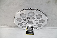 Aluminum Motorcycle Sprocket AFTER Chrome-Like Metal Polishing and Buffing Services / Restoration Services