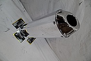 Steel FMF Exhaust for Motorcycle AFTER Chrome-Like Metal Polishing and Buffing Services / Restoration Services