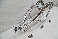2016 Honda CRF 250R Aluminum Motorcycle Frame AFTER Chrome-Like Metal Polishing and Buffing Services / Restoration Services