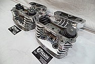 Aluminum Cylinder Heads AFTER Chrome-Like Metal Polishing and Buffing Services / Restoration Services