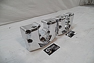 1967 Harley Davidson Aluminum Rocker Box Covers AFTER Chrome-Like Metal Polishing and Buffing Services / Restoration Services