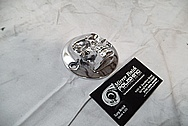 Custom Chopper Aluminum Skull Piece BEFORE Chrome-Like Metal Polishing and Buffing Services / Restoration Services