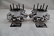 Yamaha Banshee Aluminum Cylinders AFTER Chrome-Like Metal Polishing and Buffing Services / Restoration Services