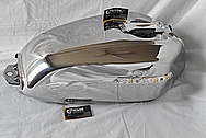 Honda Motorcycle Aluminum Gas Tank AFTER Chrome-Like Metal Polishing and Buffing Services / Restoration Services