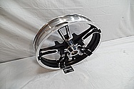 2014 Harley Davidson Street Glide Motorcycle Wheel AFTER Chrome-Like Metal Polishing and Buffing Services / Restoration Services