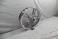 2014 Harley Davidson Street Glide Motorcycle Front Wheel AFTER Chrome-Like Metal Polishing and Buffing Services / Restoration Services
